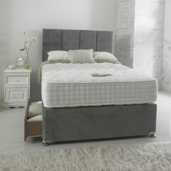 Nimbus 1000 Luxury 2 Drawer + London Headboard